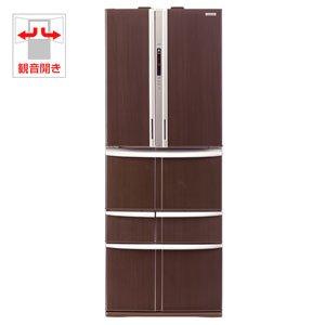 【エコポイント対象商品】東芝 501L 6ドア ノンフロン冷蔵庫(ブロンズウッド)TOSHIBA GR-B50F-MS