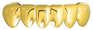 Hip Hop 14K Gold Plated Removeable Mouth Grillz (Bottom) Lower