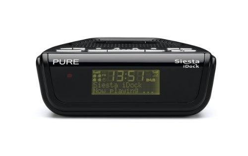 Pure VL-61276 Siesta iDock Radiowecker (DAB/DAB+/UKW-Tuner, Apple iPod-Dock) schwarz