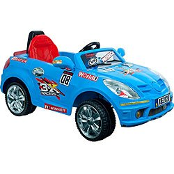 Lil Rider Battery Powered Cobalt Sports Car with Remote, Cobalt Blue (2028)
