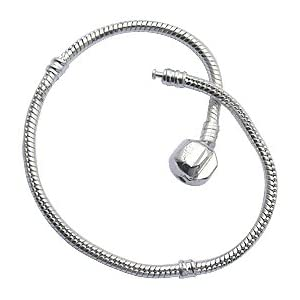 "Bracelet for Pandora Beads and charms by GlitZ JewelZ ? - Silver plated - available in many sizes 7"" to 22 inches"