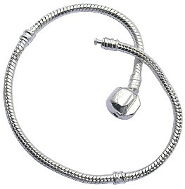 Bracelet for Pandora Beads and charms by GlitZ JewelZ © - Silver plated - Size 7' (18cms) - fits all pandora / troll / chamilia beads - shines lovely