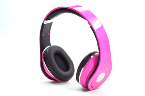 Flotera Over The Ear Adjustable Pink Headphone 3.5Mm Ipod Mp3 With