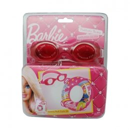 Barbie Swimming Ring And Barbie Goggles Set, Multi Color