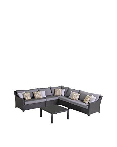 RST Brands Deco 6-Piece Corner Sectional Set, Grey