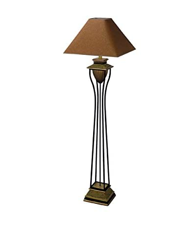 ORE International Home Deco 1-Light Floor Lamp, Antique Bronze