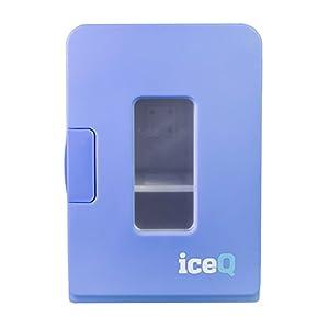 iceQ 15 Litre Deluxe Portable Mini Fridge With Window - Blue
