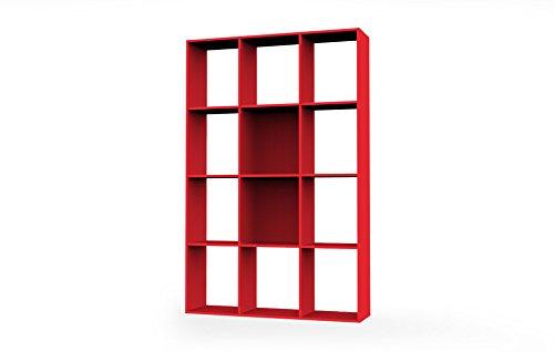 Mobile libreria - divisorio a giorno cm L110 - Rosso