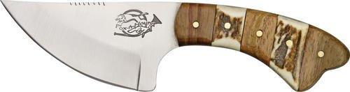 Fox-N-Hound Skinner Fixed Blade Knife, 3.125in, Skinner Blade, Brown Wood Handle