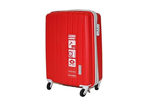 Bagaglio a Mano rigido 4 ruote SuperFlex Pellicano POP Rosso Misure IATA (accettato da tutte le compagnie) 55x20x35