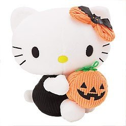 Sanrio Hello Kitty - Halloween Hello Kitty with Pumpkin 6.75 Inches Plush
