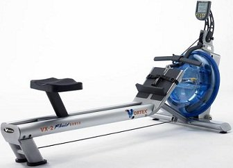 First Degree Fitness Vortex V2 Home Fluid Water Rower Machine w/ Monitor
