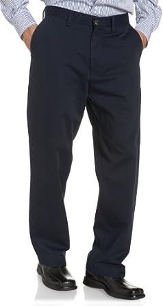 Nautica Men's Sportswear True Khaki Flat Front Pant, True Navy, 32W x 30L