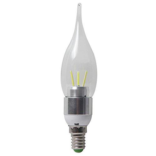 niceEshop(TM) Flamme Form LED E14 3W 350lm COB Kaltweiß Kerze Licht Kandelaber Basis Birne