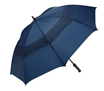 WindJammer by ShedRain 3620-N Navy 62-Inch Manual Open Vented Golf Umbrella