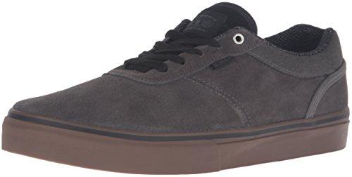 C1RCA Men's Gravette Skateboarding Shoe, Gunmetal/Gum, 8 M US