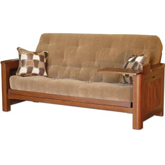 Simmons by Big Tree Sleep Cascade Tray Futon Futon with Tufted Mattress