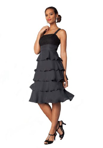 Jessica London Women's Plus Size Cocktail Dress With Lace Bolero