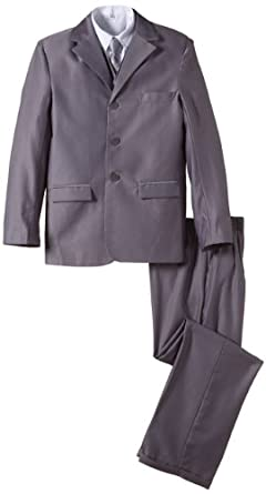 Boys Five Piece Grey Wedding Suit (0-3 months)