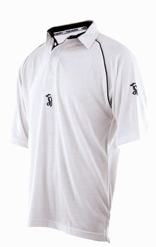 Kookaburra Cricket Predator Mid Sleeve Shirt - Navy Trim, Small