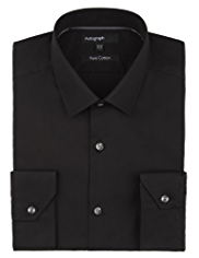 Autograph Pure Cotton Tailored Fit Shirt with StayNEW™
