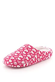 Heart Print Mule Slippers