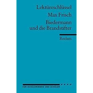 eBook Cover für  Max Frisch Biedermann und die Brandstifter Lekt xFC reschl xFC ssel
