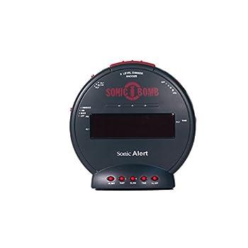 Sonic Alert SBB500SS Sonic Bomb Loud Dual Alarm Clock with Bed Shaker