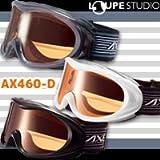 ゴーグル 眼鏡対応 [13-14カタログモデル] AXE スキー スノーボード ゴーグル AX460-D 初心者用 曇り止め機能付き めがね対応 スノーゴーグル メガネ対応 アックス ブラック