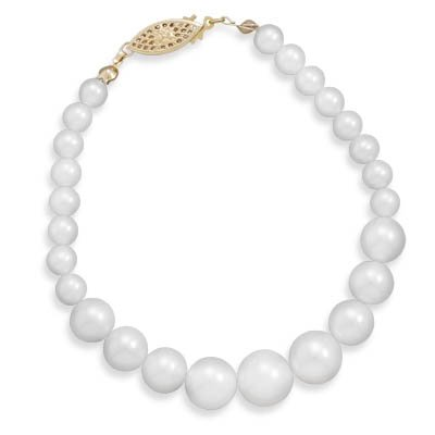 7.5 6mm - 10.5mm Cultured Freshwater Pearl Bracelet