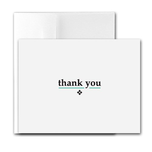 Buy Thank You – Contemporary Printer-Compatible Note Cards, Box of 24 cards and envelopes