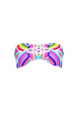 Rip Curl Costume Bandeau multicolore Rainbow (pezzo di sopra)