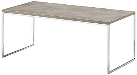 Kendo Couchtisch, Metall, Grau, 90x 45x 40cm