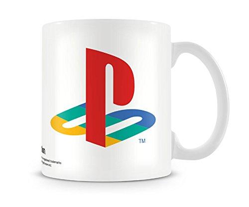 Logo di PlayStation ufficiale Sony classico bianco tazza di caffè - confezione regalo retrò
