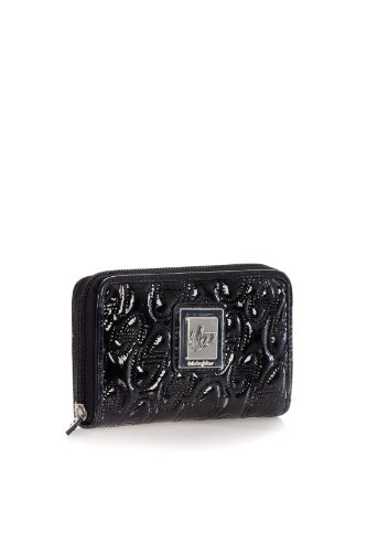 Byblos Blush BB605314 001 Ladies' Shiny Black Multifunction Medium Wallet