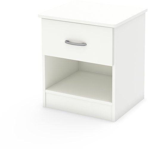White Wooden Bedside Tables 6505 front