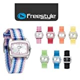 NEW Freestyle Watch SCHOOL SHARK Ladies, Womens, Girls, Fun Sports Surf Surfing Watch: Black, Azul Stripes, Pink, Key Lime, BANANA, Azul Blue