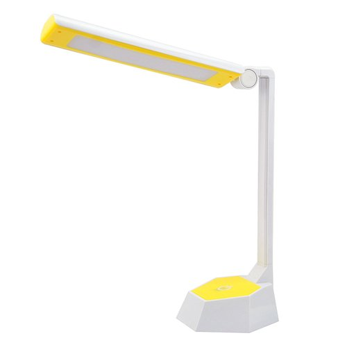 Super Bright Usb Charge Reading Lamp Energy-Saving Folding Desk Lamp Led Table Lamp Protecting Your Eyes Lamp Daylight(Yellow)