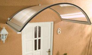 AluRundbogenvordach Haustürvordach Vordach Rondo weiß 158 x 90 x 38 cm   Kundenbewertung und Beschreibung