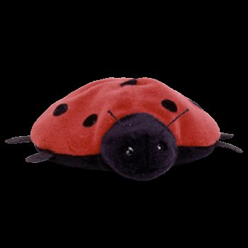 Retired Lucky the Ladybug Ty Beanie Baby - 1