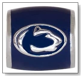 PENN STATE Nittany Lions Blue Logo 925 Silver European College Charm Bead