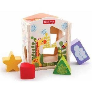 Fisher Price Blocks in House Wooden Shape Sorter Toy
