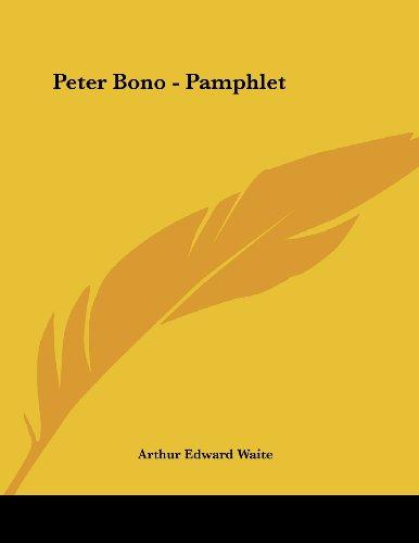 Peter Bono - Pamphlet