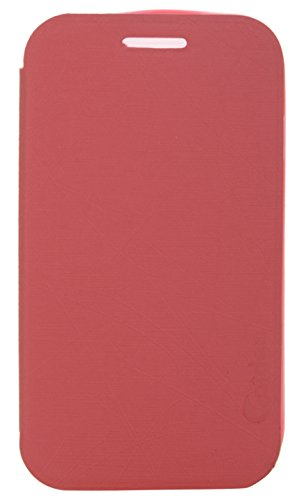 iCandy Soft TPU Non Slip Back Shell PU Leather Hybrid Flip Cover for Samsung Galaxy Star Pro S7262 - RED  available at amazon for Rs.135