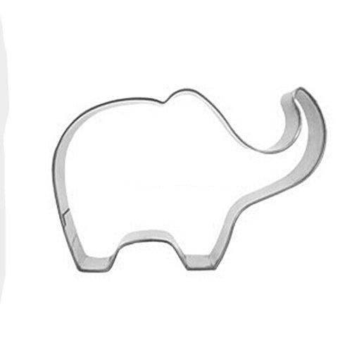 Yunko Lovely Animal Series Stainless Steel Cookie Cutter Fondant Cutter Puppy Cat Giraffe Elephant Rabbit Dolphin Bone (Elephant)