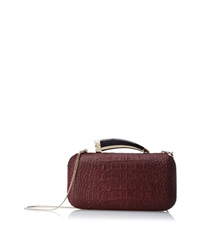 Vince Camuto Women's Horn Clutch Evening Bag, Garnet