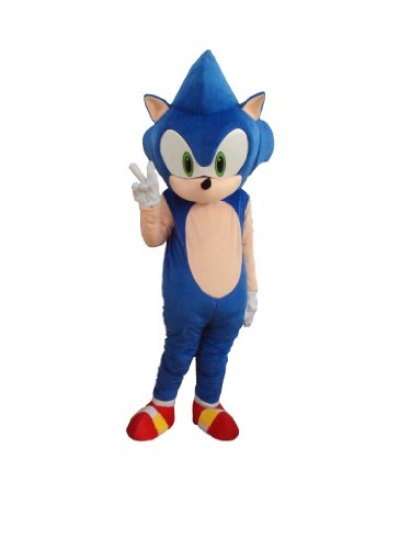 Professional Hedgehog Sonic Mascot Costume Adult Halloween Costume Fancy Dress Outfit