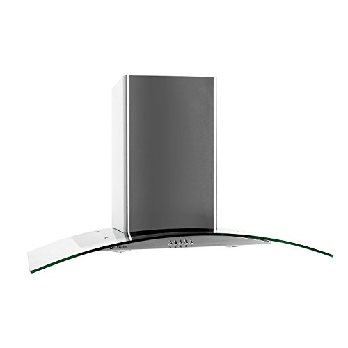 Klarstein GL90WS cappa aspirante 90cm acciaio inox 700m³/h