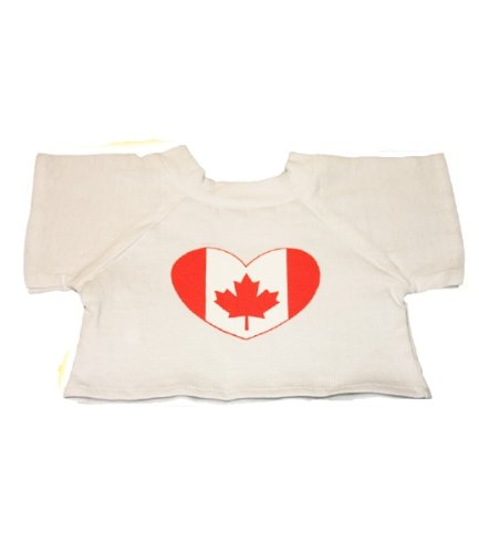 "CANADA T-Shirt Outfit Teddy Bear Clothes Fit 14"" - 18"" Build-a-bear, Vermont Teddy Bears, and Make Your Own Stuffed Animals"