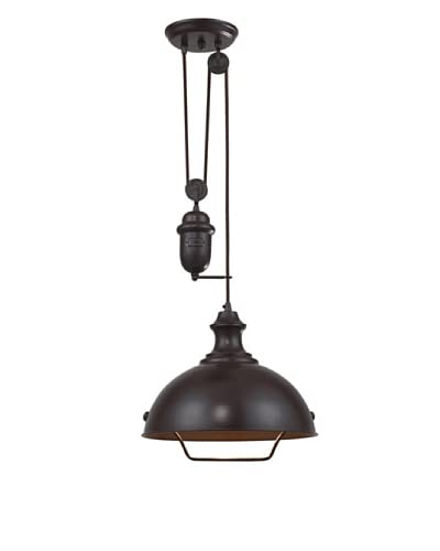 Artistic Lighting Farmhouse 1-Light Pendant, Oiled Bronze